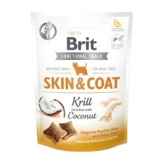 BRIT CARE FUNCTIONAL SNACK SKIN & COAT 150G (plankton-kókusz)