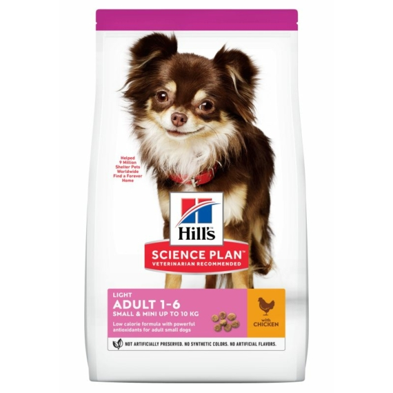 HILL S SCIENCE PLAN CANINE ADULT SMALL&MINIATURE LIGHT CHICKEN 6 KG