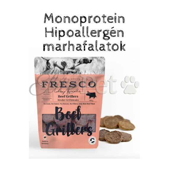 Fresco Beef Grillers Hipoallergén Jutalomfalat (Marha) 100g
