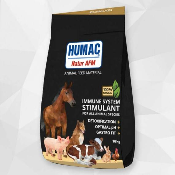 HUMAC® Natur AFM 10kg (zsák) Eledel kiegészítő aktivált huminsavval – minden háziállatnak