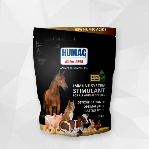 HUMAC® Natur AFM 2,5kg (tasak) Eledel kiegészítő aktivált huminsavval – minden háziállatnak