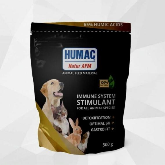 HUMAC® Natur AFM 500g (tasak) Eledel kiegészítő aktivált huminsavval – minden háziállatnak