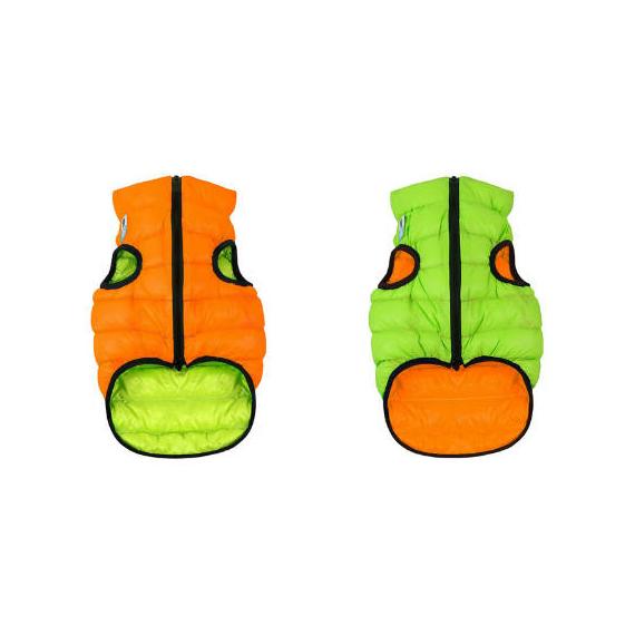 AiryVest kutyaruha kifordítható, S 35,narancs-zöld