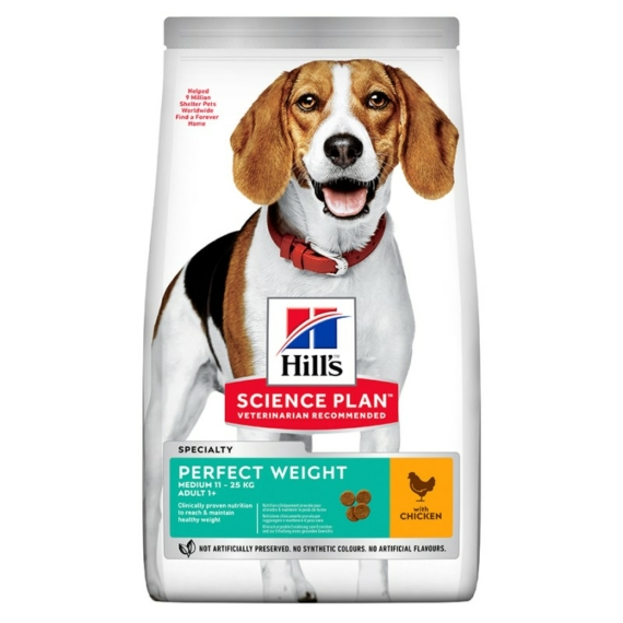 HILL S SCIENCE PLAN CANINE ADULT PERFECT WEIGHT MEDIUM 12 KG